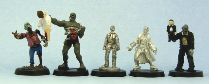 From left to right: Games Workshop, HorrorClix, Recreational Conflict, Studio Miniatures, HorrorClix