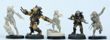 L to R: Austral-Hunter, Heresy, Crossbow-Predette, Copplestone, 2Blade-Hunter