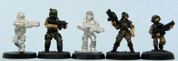 L to R: Hasslefree, Defiance, Sgt. Major, em4, 1st Corps