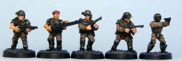 Painted Colonial Marines