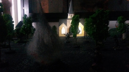 A villager's eye view of the church. It's far away and there's a vampire waiting (Photo by Emmi Lounela)