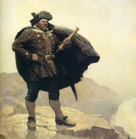 Billy Bones by NC Wyeth