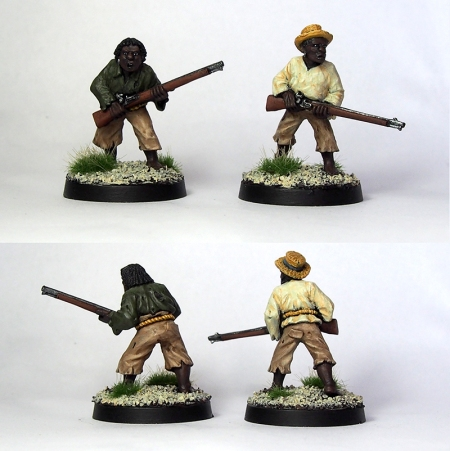 Two Wargames Foundry maroons with muskets