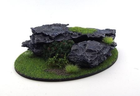 Rocky outcrop made from bark