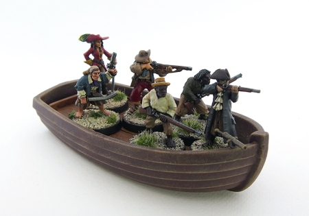 Picture of pirates in boat