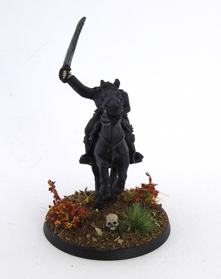 Picture of headless horseman miniature