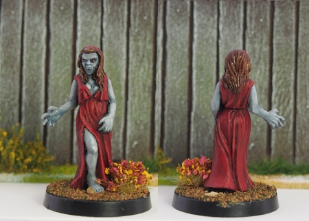 Photo of female vampire miniature