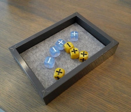 Dice tray with Fate dice