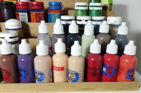 Citadel paint in dropper bottles