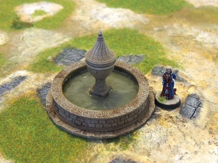 Photo of painted miniature fountain